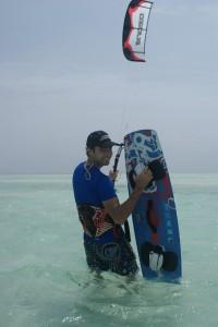 Aart kitesurfing